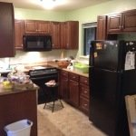 Kitchen remodel on moving day!